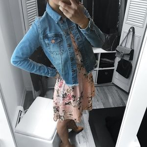 Jackets & Blazers - Denim Jacket with Side Lace Detail